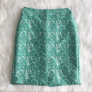 ANN TAYLOR Green Lace Overlay Pencil Skirt SIZE 4